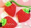 牛津布草莓束口袋